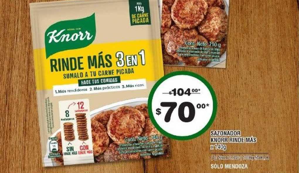ATOMO Conviene Sazonador Knorr Rinde Más X 140g