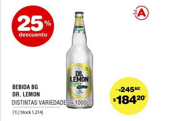 ATOMO Conviene Bebida BG Dr. Lemon Distintas Variedades 25% Descuento