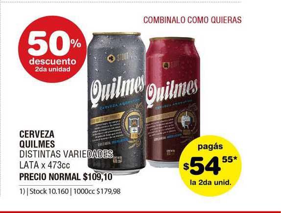 ATOMO Conviene Cerveza Quilmes Distintas Variedades