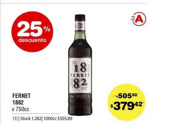 ATOMO Conviene Fernet 1882 25% Descuento
