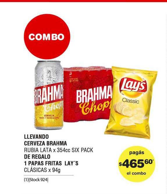 ATOMO Conviene Llevando Cerveza Brahma De Regalo 1 Papas Fritas Lay's