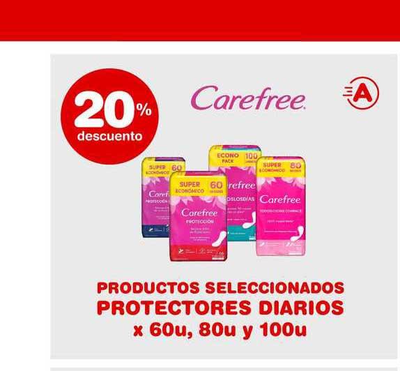 ATOMO Conviene Carefree Productos Seleccionados Protectores Diarios 20% Descuento