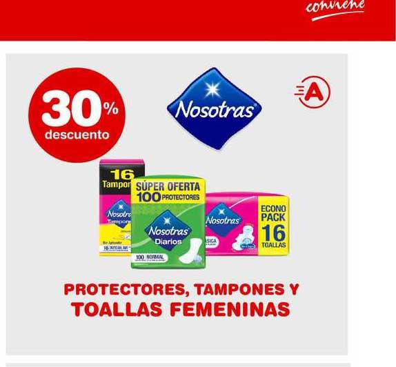 ATOMO Conviene Nosotras Protectores Tamponey Y Toallas Femeninas 30% Descuento