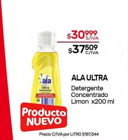 Nini Mayorista Ala Ultra Detergente Concentrado Limon X 200 Ml