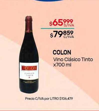 Nini Mayorista Colon Vino Clásico Tinto X 700 Ml