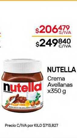Nini Mayorista Nutella Crema Avellanas X 350 G