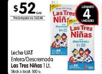Disco Leche UAT Entera-descremada Las Tres Niñas 1 Lt.