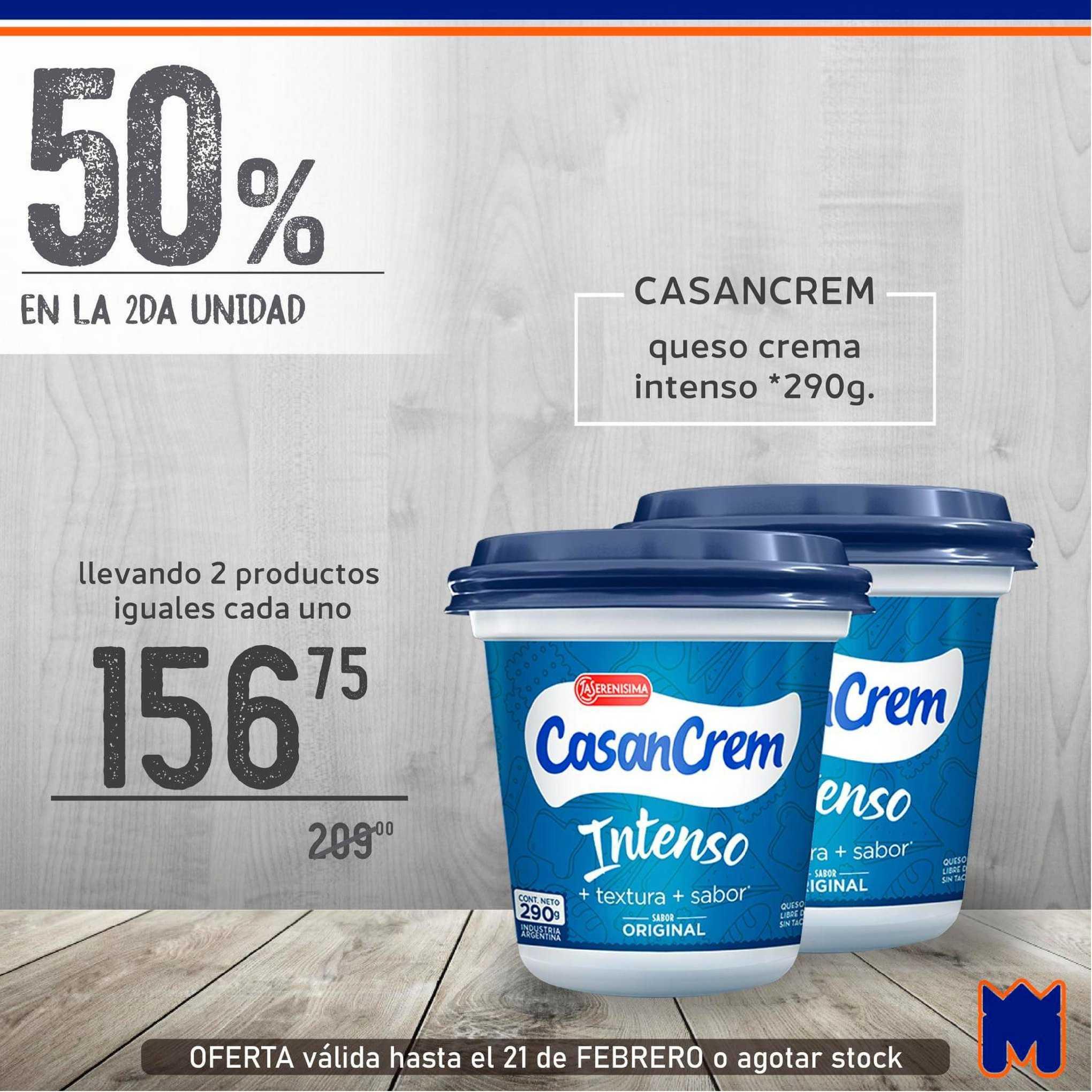 Supermercados Monarca Casancrem Queso Crema Intenso