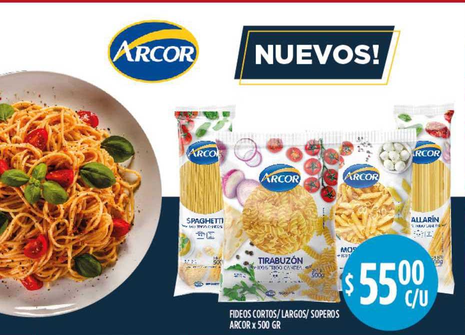 Supermercados Toledo Fideos Cortos-largos-soperos Arcor