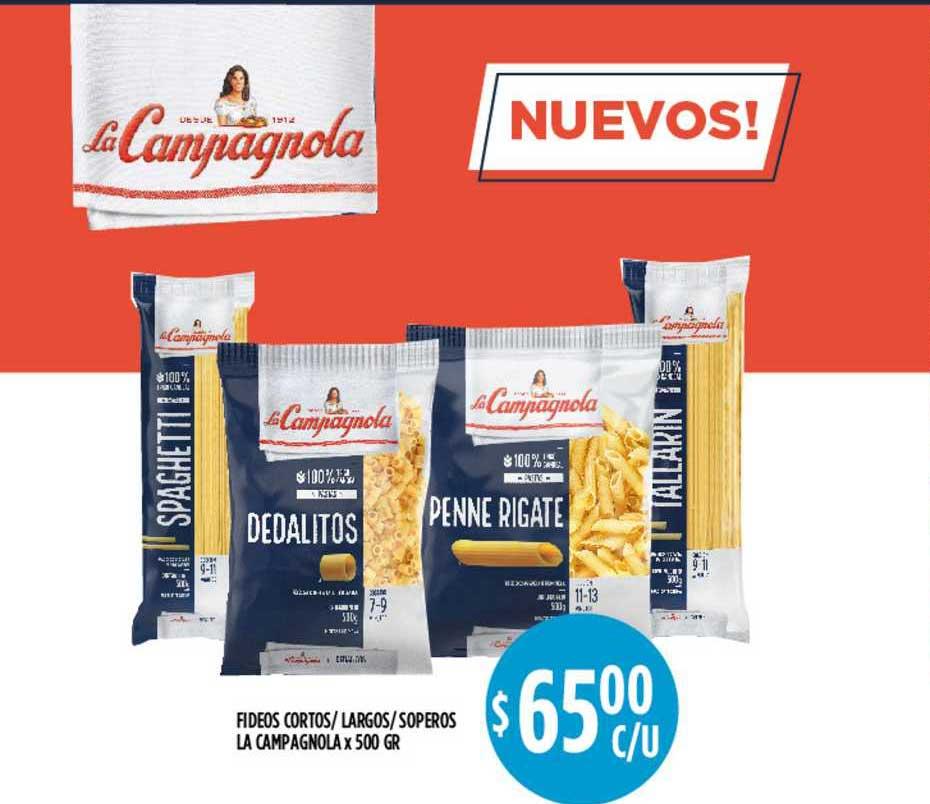 Supermercados Toledo Fideos Cortos-largos-soperos La Campagnola