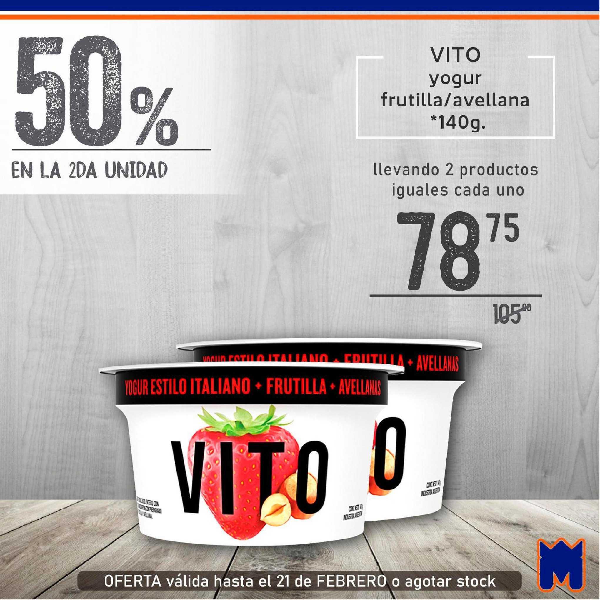 Supermercados Monarca Vito Yogur Frutilla-avellana