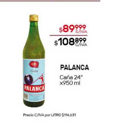 Nini Mayorista Palanca Caña 24°
