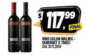 Supermercados Yaguar Vino Colon Malbec Cabernet