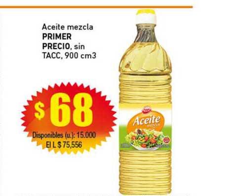 Cooperativa Obrera Aceite Mezcla Primer Precio, Sin Tacc, 900 Cm3