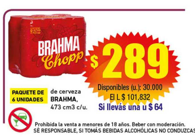 Cooperativa Obrera De Cerveza Brahma, 473 Cm3 C-u.