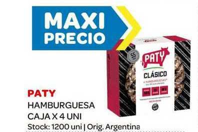 Carrefour Maxi Paty Hamburguesa Caja X 4 Uni