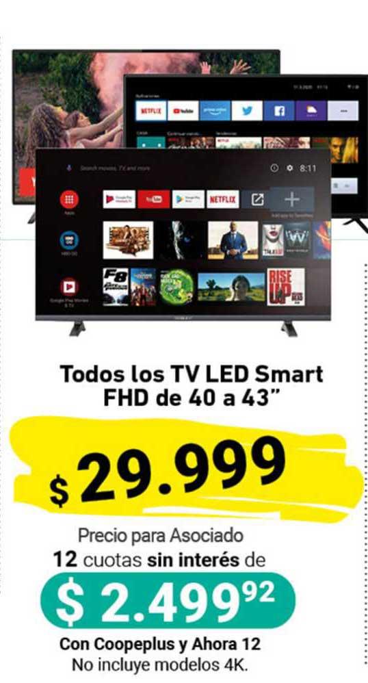 Cooperativa Obrera Todos Los TV Led Smart FHD De 40 A 43