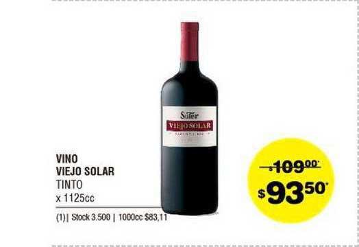 ATOMO Conviene Vino Viejo Solar Tinto X 1125 Cc