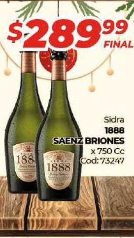 Diarco Sidra 1888 Saenz Briones X 750 Cc