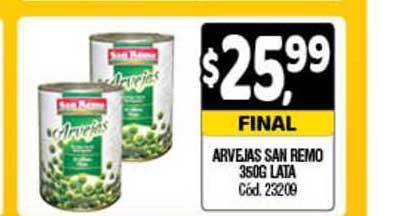 Supermercados Yaguar Arvejas San Remo