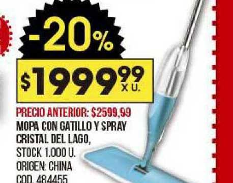 Coto Mopa Con Gatillo Y Spray Cristal Del Lago