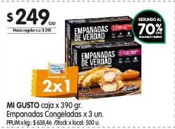 Jumbo Mi Gusto Caja X 390 Gr. Empanadas Congeladas X 3 Un.