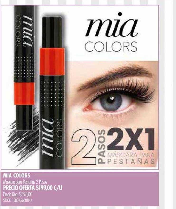 Pigmento Mia Colors Máscara Para Pestañas 2 Pasos