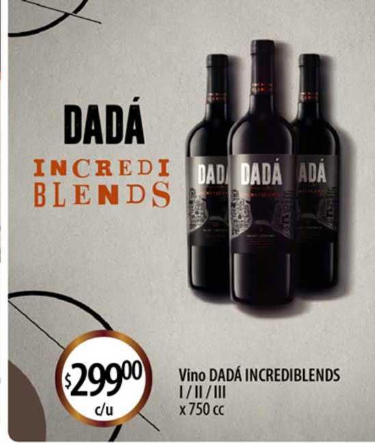 Supermercados Toledo Vino Dadá Incrediblends I Ii Iii