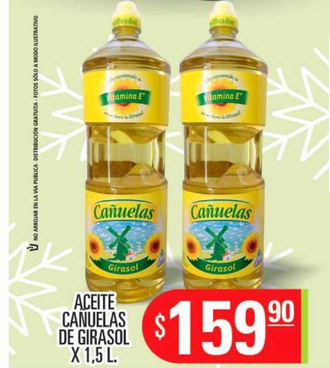 Supermercados Caracol Aceite Cañuelas De Girasol X 1,5 L.