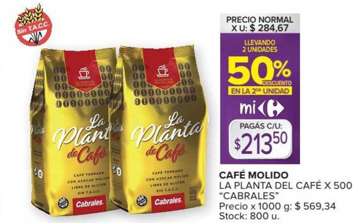 Carrefour Market Café Molido La Planta Del Café X 500