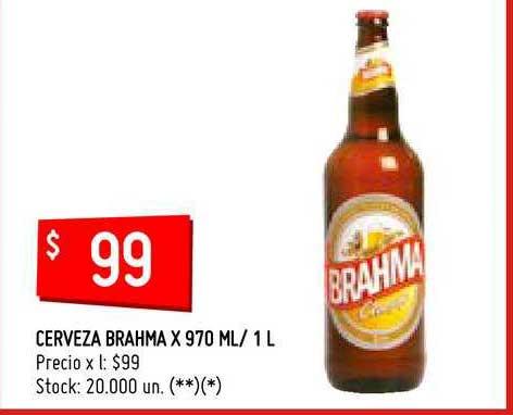 Changomas Cerveza Brahma X 970 ML- 1 L