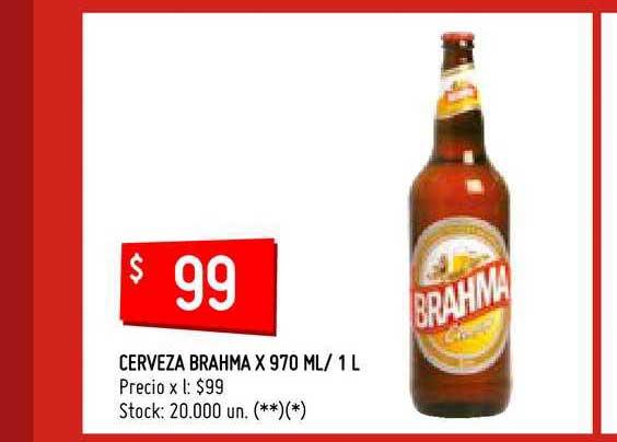 Walmart Cerveza Brahma X 970 ML- 1 L