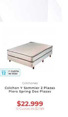 Otero Colchon Y Sommier 2 Plazas Piero Spring Dos Plazas