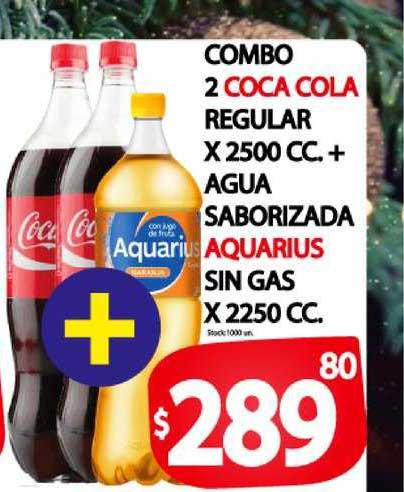 Supermercados Mariano Max Combo 2 Coca Cola Regular X 2500 Cc. + Agua Saborizada Aquarius Sin Gas