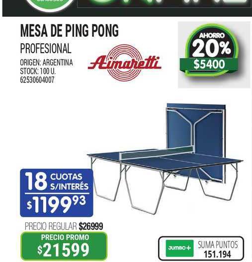 Jumbo Mesa De Ping Pong