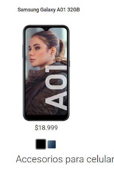 Claro Samsung Galaxy A01 32gb
