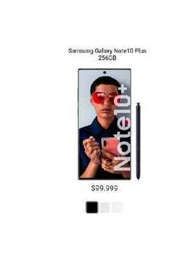 Claro Samsung Galaxy Note 10 Plus 256gb