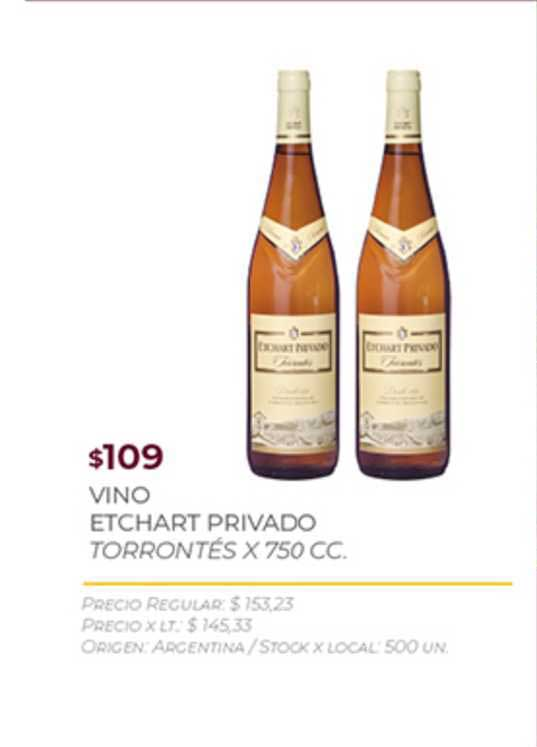 Disco Vino Etchart Privado Torrontés X 750 CC.