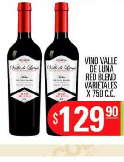 Supermercados Caracol Vino Valle De Luna Red Blend Varietales X 750 C.C.