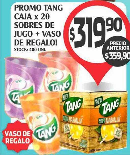 Supermercados Malambo Promo Tang Caja X 20 Sobres De Jugo + Vaso De Regalo!