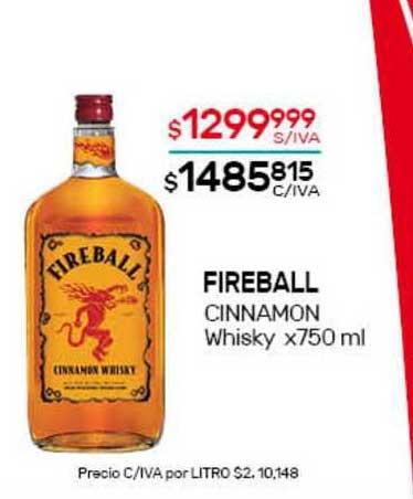 Nini Mayorista Fireball Cinnamon Whisky