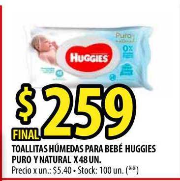 Punto Mayorista Toallitas Húmedas Para Bebé Huggies Puro Y Natural