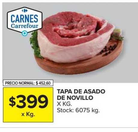 Carrefour Market Tapa De Asado De Novillo X Kg.