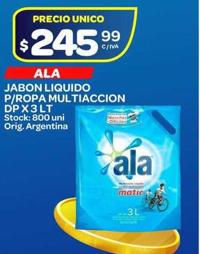 Carrefour Maxi Ala Jabon Liquido P-Ropa Multiaccion DP X 3 LT