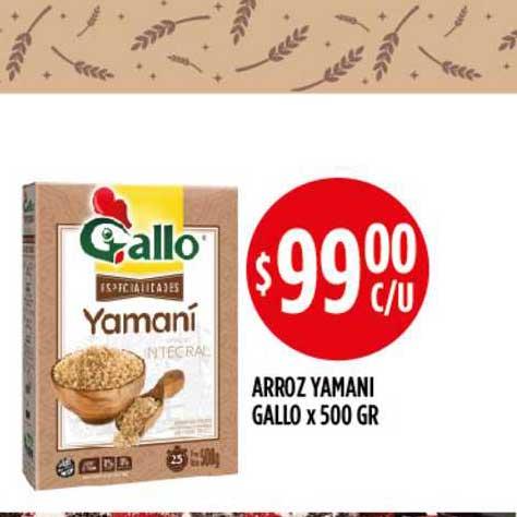 Supermercados Toledo Arroz Yamani Gallo X 500 GR