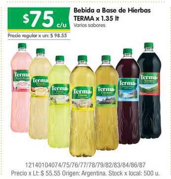 Jumbo Bebida A Base De Hierbas Terma X 1.35 Lt