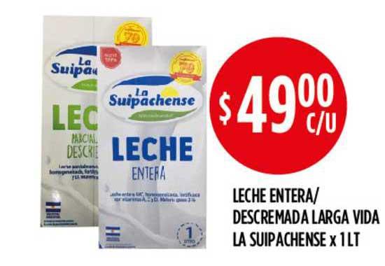 Supermercados Toledo Leche Entera- Descremada Larga Vida La Suipachense X Lt
