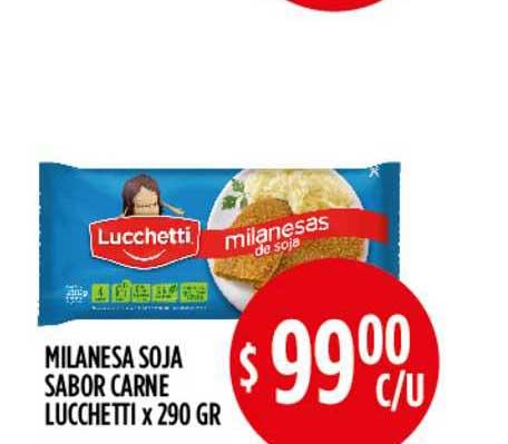 Supermercados Toledo Milanesa Soja Sabor Carne Lucchetti X 290 GR