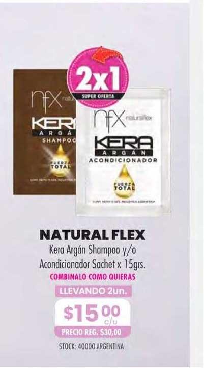 Pigmento Natural Flex Kera Argán Shampoo Y-o Acondicionador Sachet X 15grs.