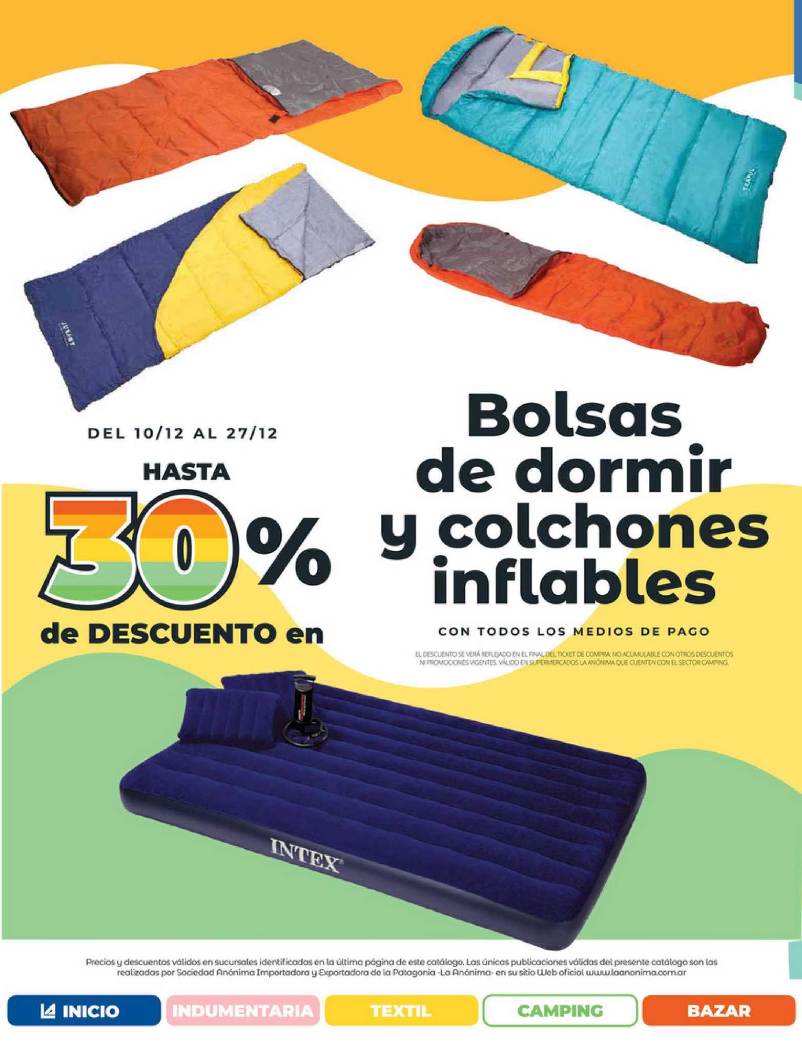 La Anónima Bolsas De Dormir Y Colchones Inflables